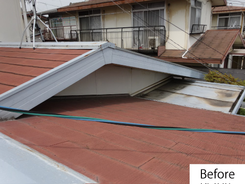 屋根改修before