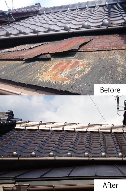 屋根改修工事2